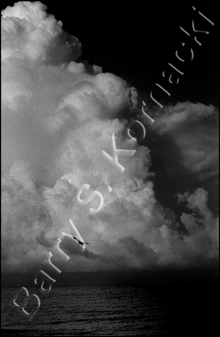 Clouds, black and white photograph